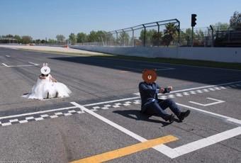 现场团:在F1赛道拍婚纱是什么体验