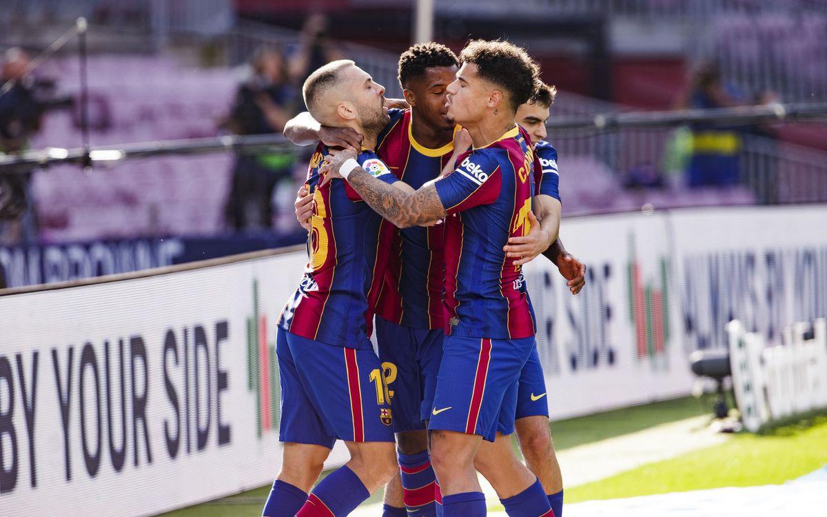 2020/21西甲联赛第7轮 西班牙国家德比:巴萨1-3皇家马德里