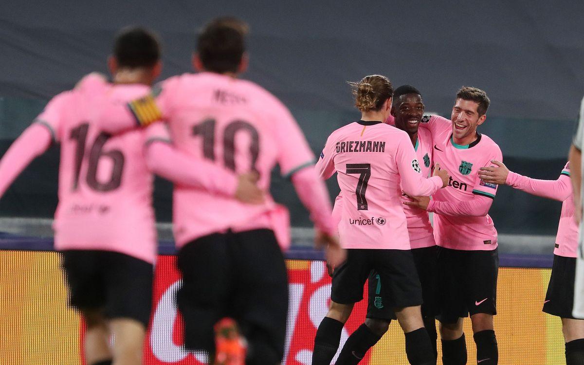 欧冠小组赛G组第2轮 尤文图斯0-2巴萨