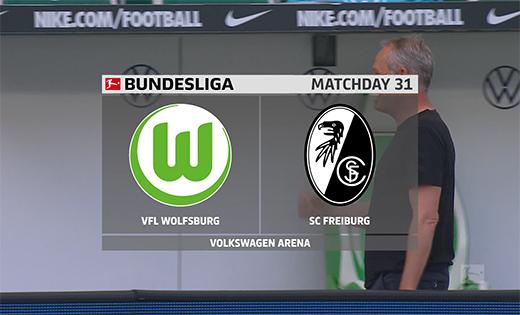 2019/2020德甲第31轮集锦:沃尔夫斯堡vs弗赖堡