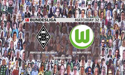 2019/2020德甲第32轮集锦:门兴格拉德巴赫vs沃尔夫斯堡